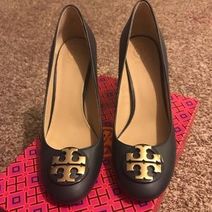 Tory Burch Navy Blue Heels